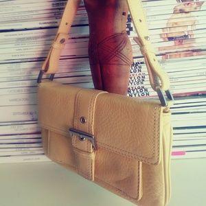 Yellow leather Talbots mini handbag